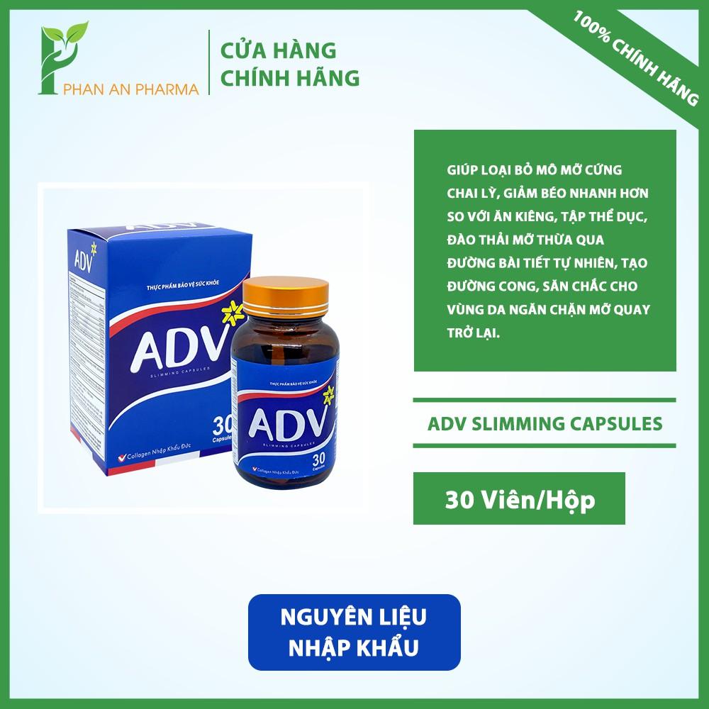 Giảm béo sinh học ADV Slimming Capsules - Hỗ trợ tăng cường chuyển hóa giảm tích tụ chất béo - Phan An CN374