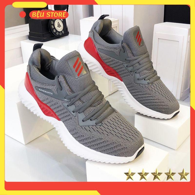 Giày nam thể thao 💥𝑭𝑹𝑬𝑬𝑺𝑯𝑰𝑷💥Giảm 20K Khi Nhập Mã [GIAY020K] - Giày Nam Thể Thao Xám Đỏ Mới Nhất