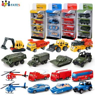 4Pcs/Set Simulate Alloy Engineering Cars Set Kids Educational Props Toy