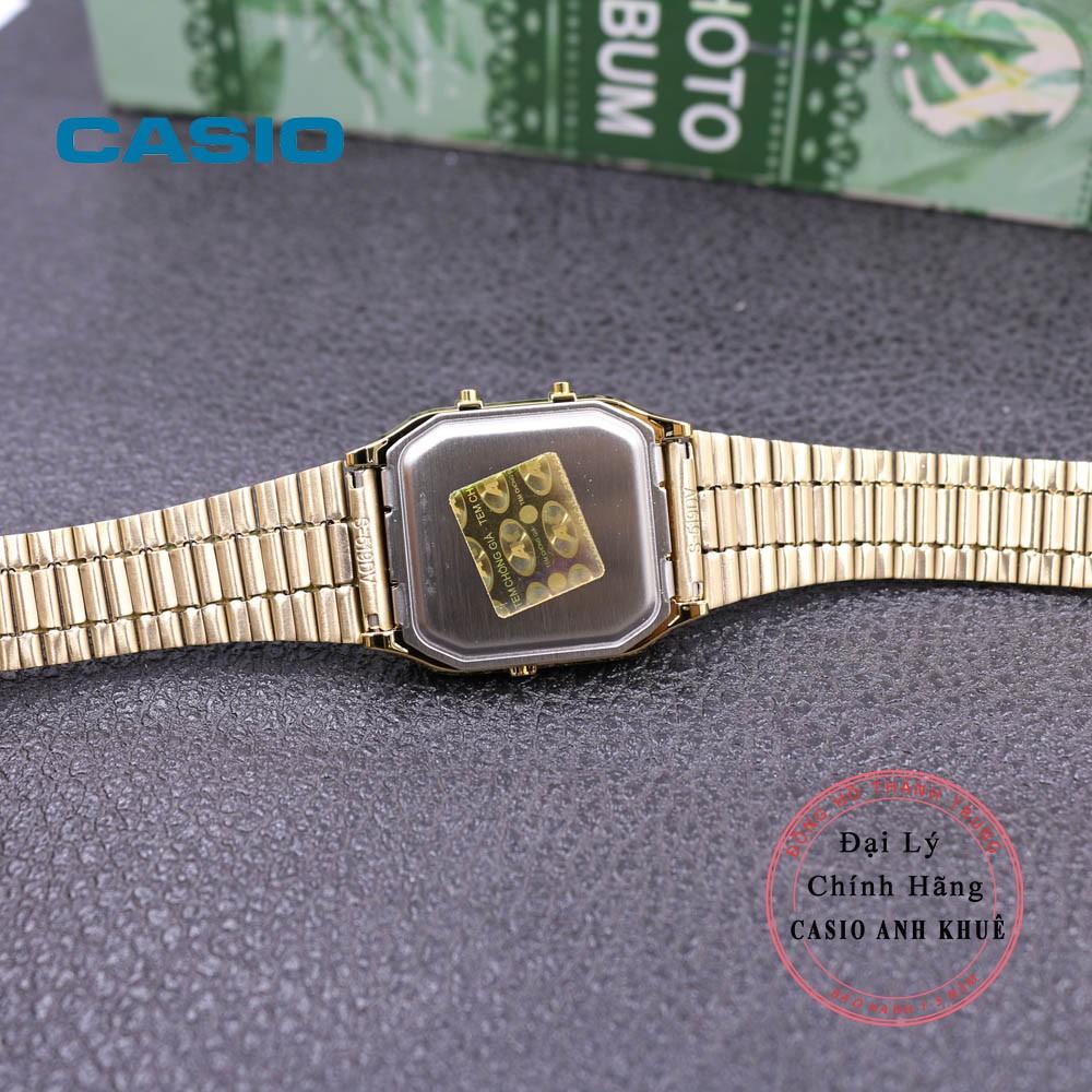 Đồng hồ Unisex Casio Vintage AQ-230GA-9DMQ dây kim loại