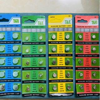 Pin cúc áo AG13/357A/CX44/LR44 Sử dụng cho: đồng hồ điện tử, các thiết bị điện, điện tử, Đồ chơi trẻ em, Remote