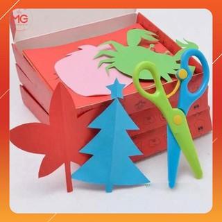 [SIÊU KM] Combo 2 bộ đồ chơi cắt giấy tạo hình đa dạng 240 tờ tặng kéo | HÀNG MỚI