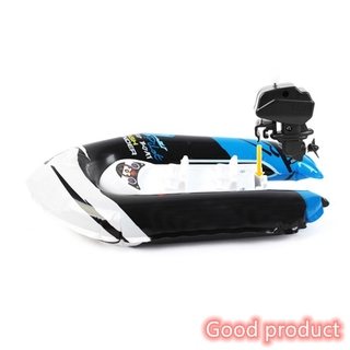 【In stock】 Children Inflatable Bath Toys Wind-up Printing Dinghy Toy Mini Inflatable Boat with Pump Random Color