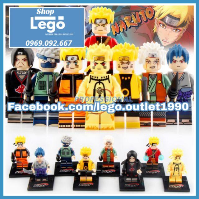 Xếp hình Naruto – Sasuke – Itachi – Jiraiya – Kakashi Lego Minifigures Kopf KF6078