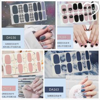 Set 14 miếng dán móng tay trang trí nhiều màu sắc thumbnail