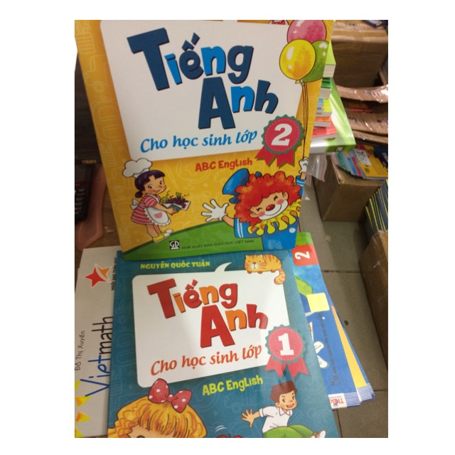 Combo 2 cuốn tiếng anh lớp 1,2