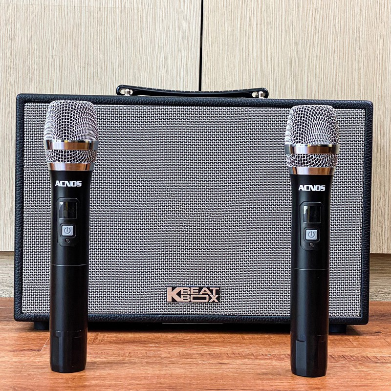 [Tặng 2 mic] Loa karaoke xách tay ACNOS KBEATBOX CS200PU - Bass 2 tấc, công suất 300W- Dàn karaoke di động tiện lợi tốt