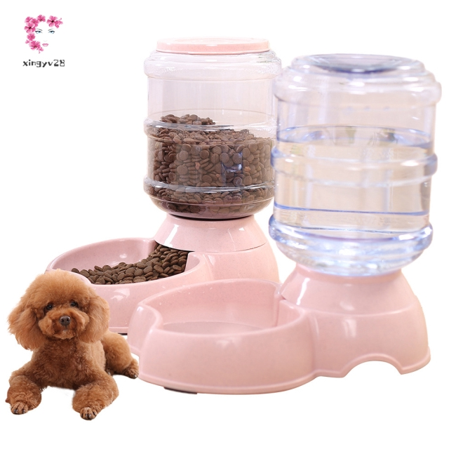 3.8L Pet Automatic Feeding Bowl for Dog Cat Supplies