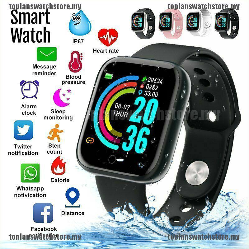 Đồng Hồ Thông Minh Y68 Chống Nước Hỗ Trợ Theo Dõi Nhịp Tim Cho Ios Android