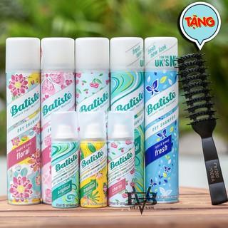 [CHÍNH HÃNG] Dầu gội khô Batiste 50ml và Batiste 200ml - Gội khô Anh chính hãng 100% UK + Tặng lược tạo kiểu tóc Chaoba thumbnail