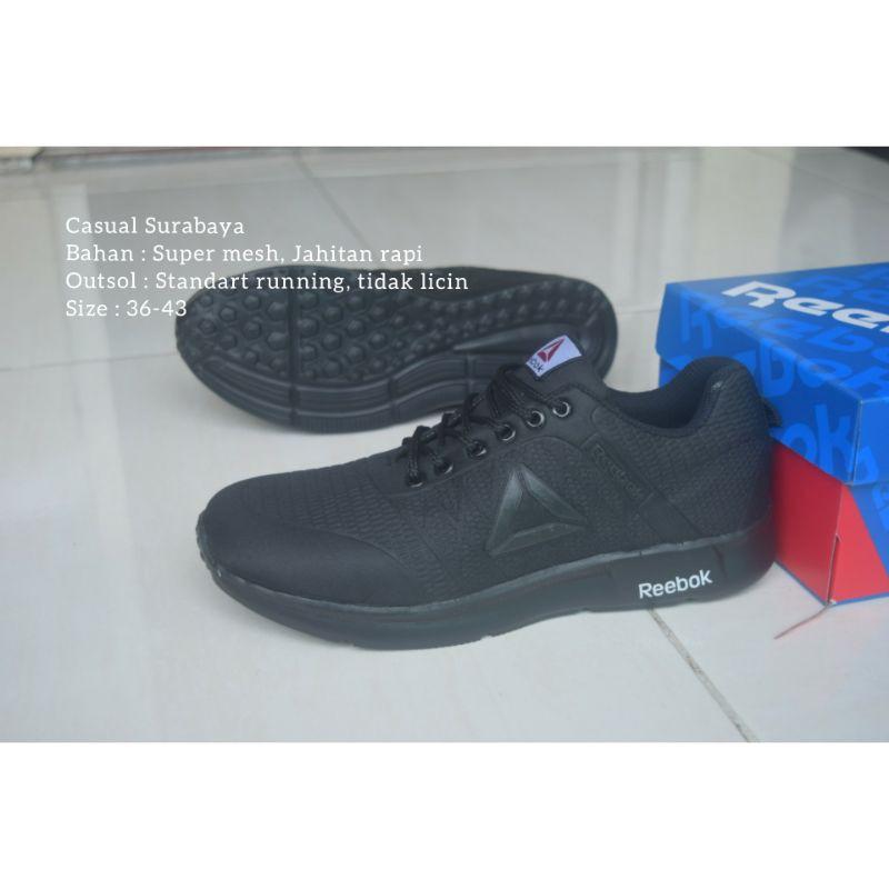 Giày Thể Thao Màu Đen Trơn Reebok Thời Trang Công Sở Trẻ Trung