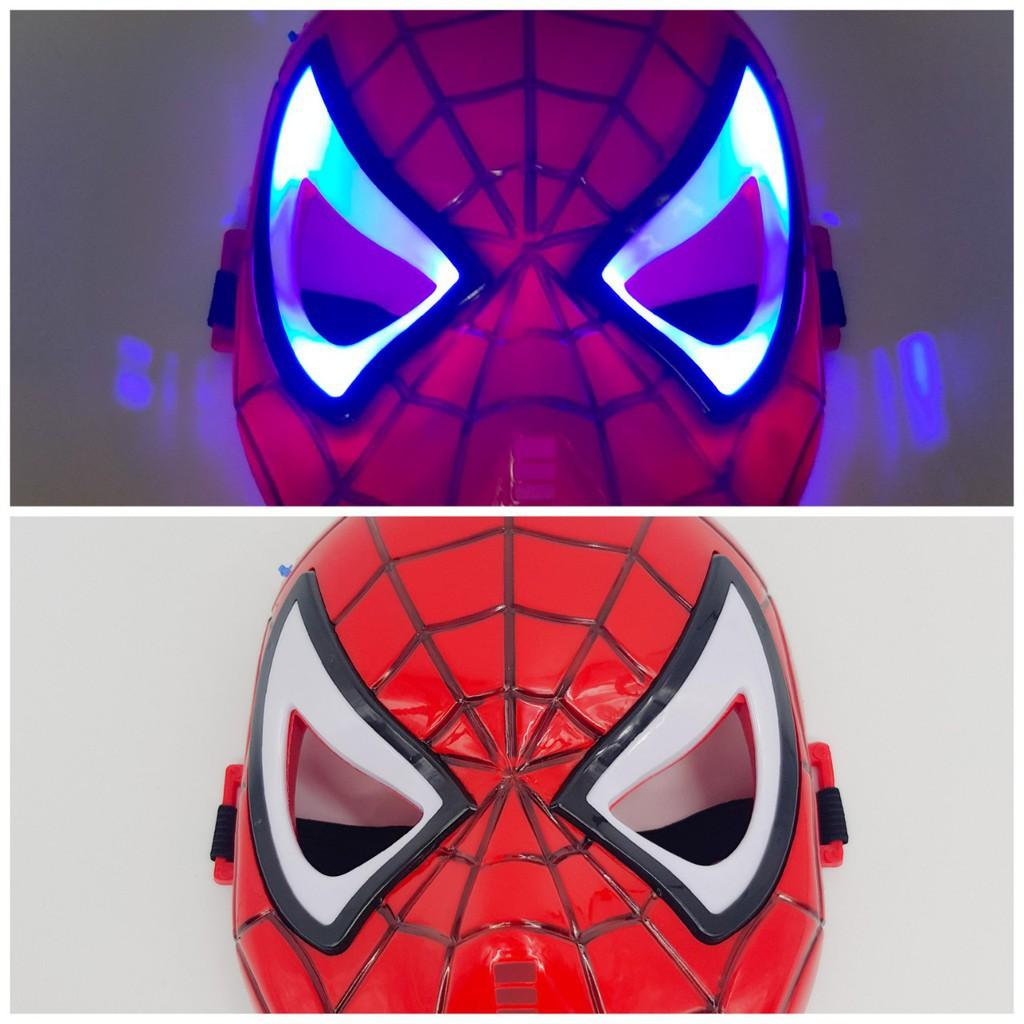 Mặt nạ người nhện SPIDER MAN có đèn, đồ chơi trẻ em lứa tuổi 3+ mặt nạ hóa trang, halloween,...