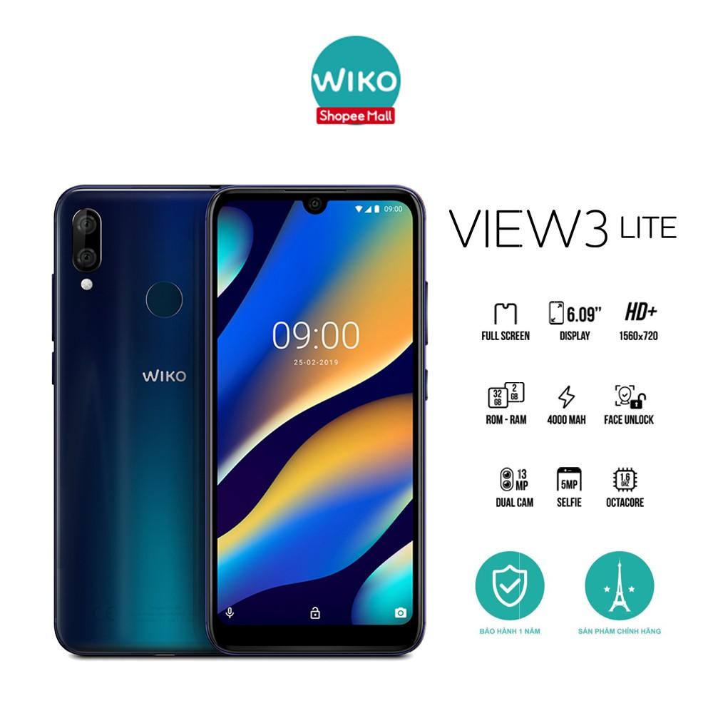 [Mã ELMALL11 giảm 6% đơn 500K] Điện Thoại WIKO View 3 Lite 2G/32GB - BH 1 đổi 1 trong 4 tháng -Hãng Phân Phối Chính Thức