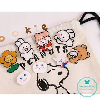Pin cài áo ba lô túi xách hoạt hình - Ghim cài hình thỏ hình gấu cà rốt siêu xinh dodungchobegiasi thumbnail