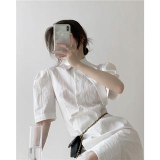 Đầm Trắng Dáng Dài Phong Cách Retro Hàn Quốc Cho Nữ thumbnail