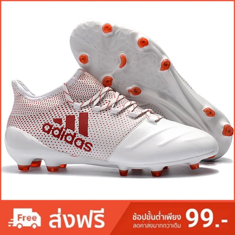 Adidas X 17.1 Leather  รองเท้าฟุตบอลเด็กรองเท้าฟุตบอลชายรองเท้าฟุตบอลชายรองเท้าใส่สบายรองเท้าฟุตบอล รองเท้าฟุตบอล Soccer