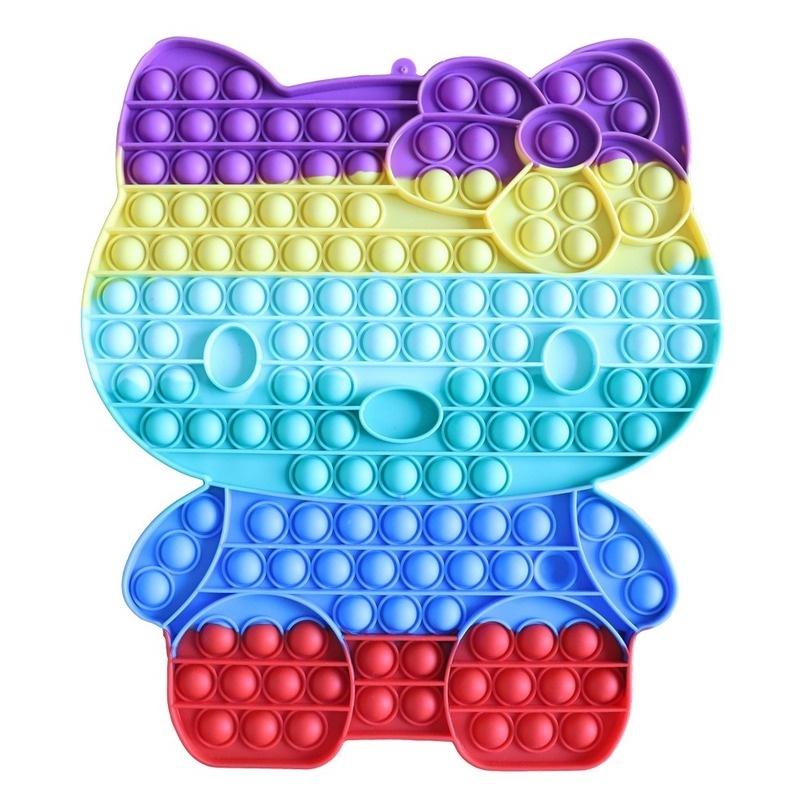 【24h delivery】30cm Hello kitty Rainbow Pop It Fidget Believer Đồ chơi căng thẳng Push It Bubble Antistress Đồ chơi dành cho người lớn Trẻ em Đồ chơi giác quan Làm giảm chứng【high quality】