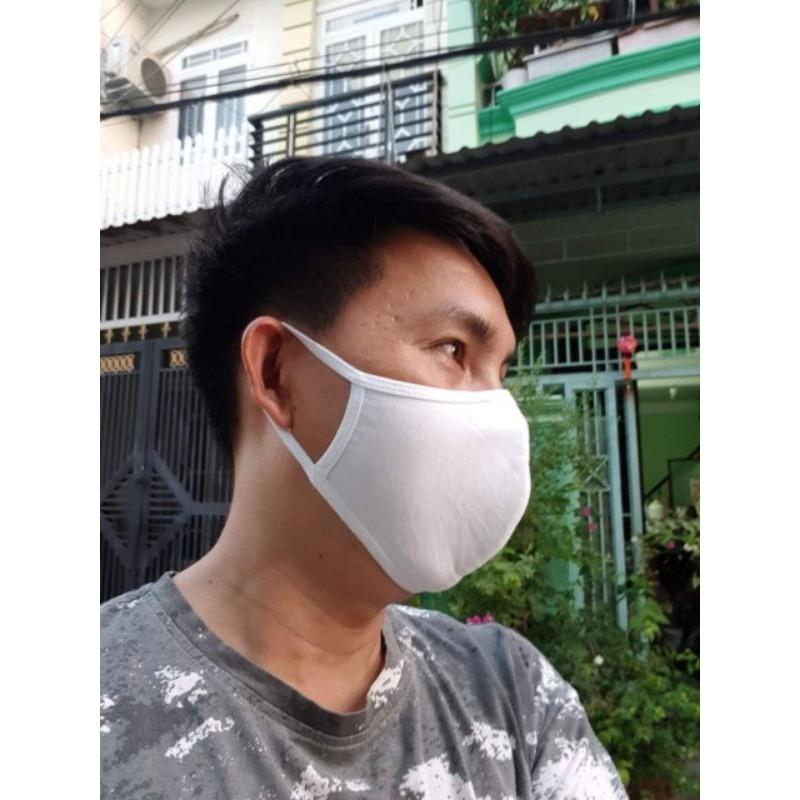 5 Khẩu trang vải kháng khuẩn 2 lớp mềm mại thoáng khí không gây kích ứng da