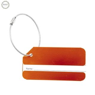 Metal vacances Voyage bagages Bagages Valise ID Tag Boucle Adresse Porte-etiquette – orange