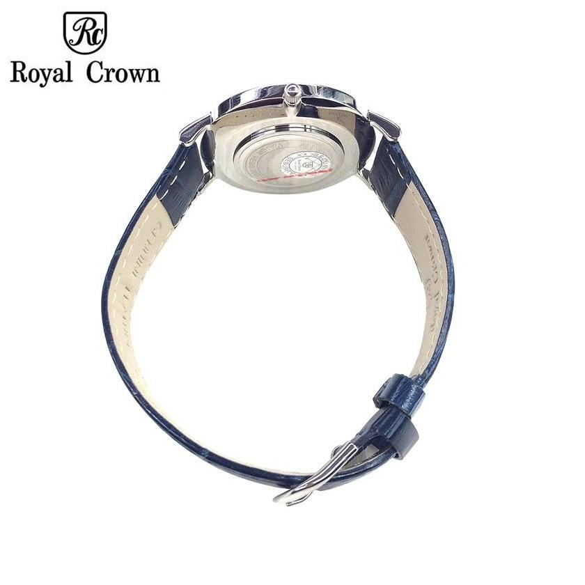 Đồng hồ Nam Chính Hãng Royal Crown 7601 Dây Da Xanh