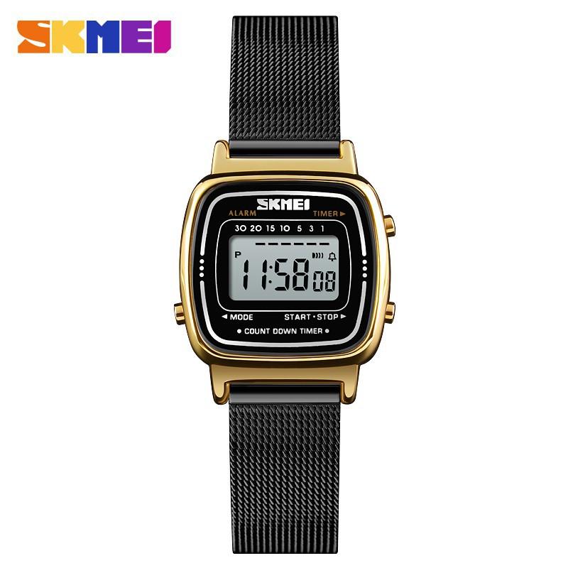 SKMEI 1252 ladies simple digital waterproof stainless steel watch