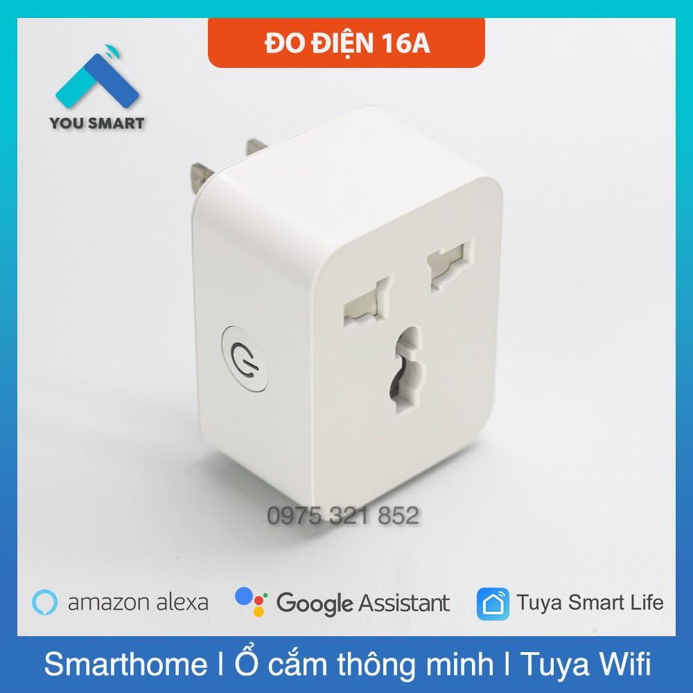 Ổ cắm thông minh wifi 16A Tuya Smartlife - Đo điện năng tiêu thụ