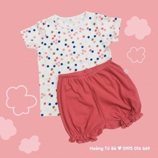 Bộ cộc áo chấm bi - quần hồng Chaang thumbnail