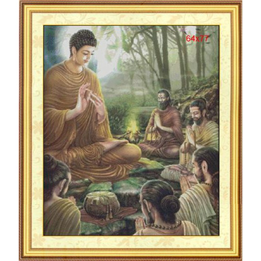 Đức Phật Thuyết Pháp Độ Tỳ Kheo (In Sẵn)