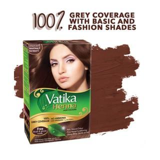 Bột nhuộm tóc thảo dược Henna Vatika Ấn Độ Hộp 6 gói