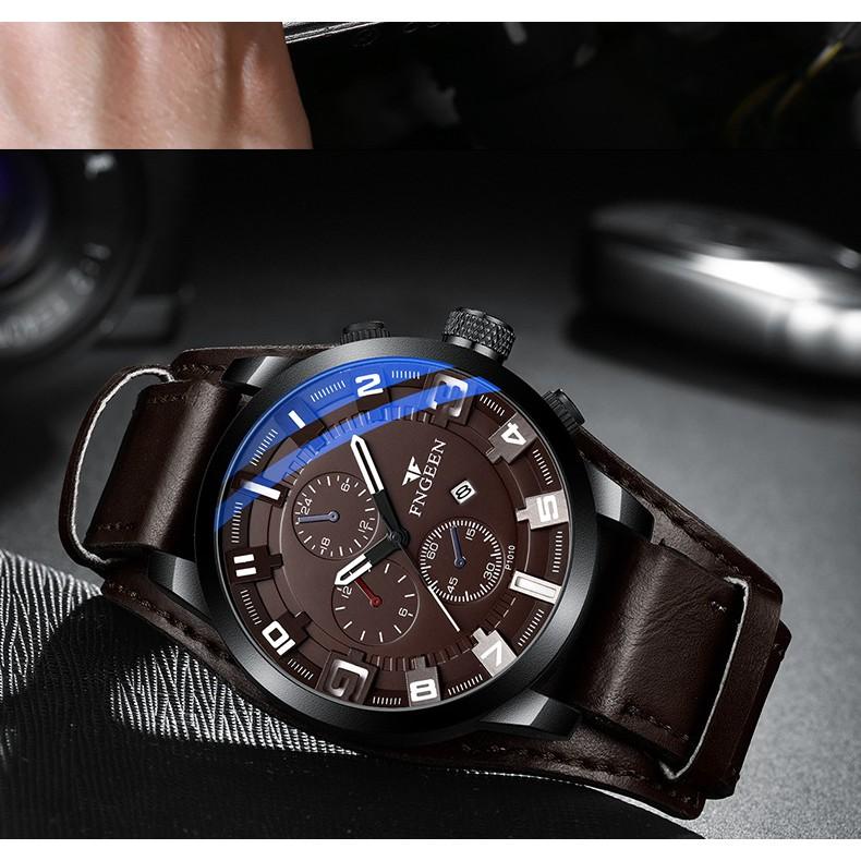 Đồng hồ nam chính hãng FNGEEN tuyệt đẹp, giảm giá sốc, kiểu dáng thời trang lịch lãm (MÃ: FN121)