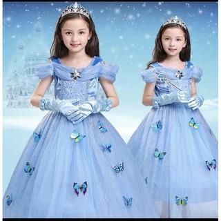 Đầm váy công chúa Elsa cho bé gái hàng nhập siêu xịn