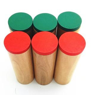 bộ 6 hộp âm thanh giáo cụ Montessori