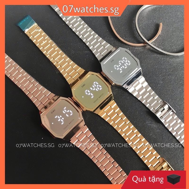 [watches.sg] Đồng hồ thời trang nam nữ A168 TOUCH WATCH- Mặt cảm ứng tráng gương