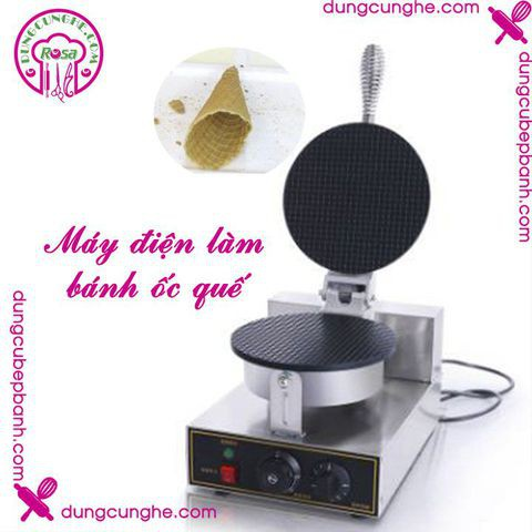 Máy điện làm bánh ốc quế - Machine ice cream cone egg roll