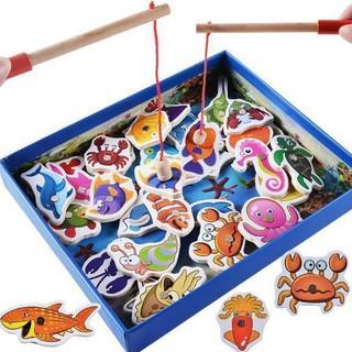 Đồ chơi hộp câu cá nam châm 2 cần 32 con cho bé
