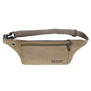 Túi đeo hông đeo bụng chạy bộ, túi đeo bụng mỏng sport chống trầy đa năng (Xanh, đen, nâu) thumbnail