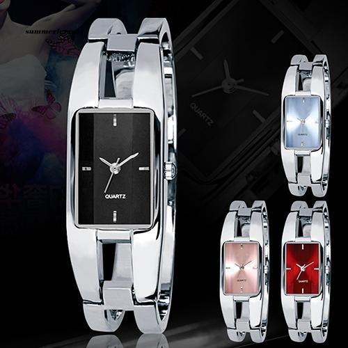 【SUCM】Women's Square Dial Changing Color Bracelet Bangle Quartz Fashion Wrist Watch