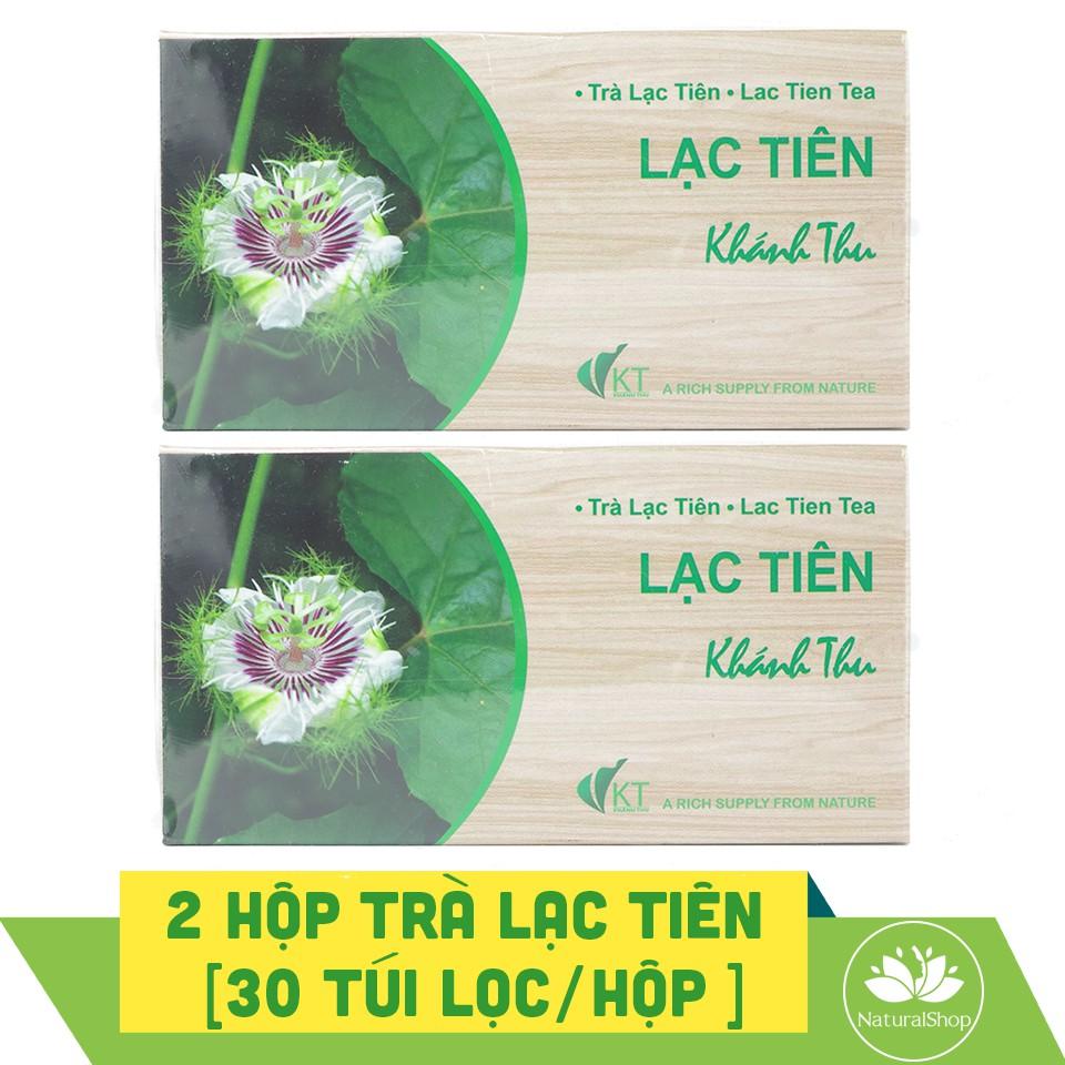 Bộ 2 hộp trà lạc tiên (cây nhãn lồng) Khánh Thu 30 túi lọc/hộp