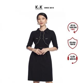 [Mã KKFAK30 giảm 20% tối đa 30K đơn 299K] Đầm Công Sở Nữ Màu Đen K&K Fashion KK104-09 Dáng Chữ A Kèm Đai Eo thumbnail