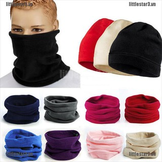 {NUV} Women Thermal Warm Fleece Scarf Snood Scarf Neck Warmer Beanie Ski Balaclava Hat{CC}