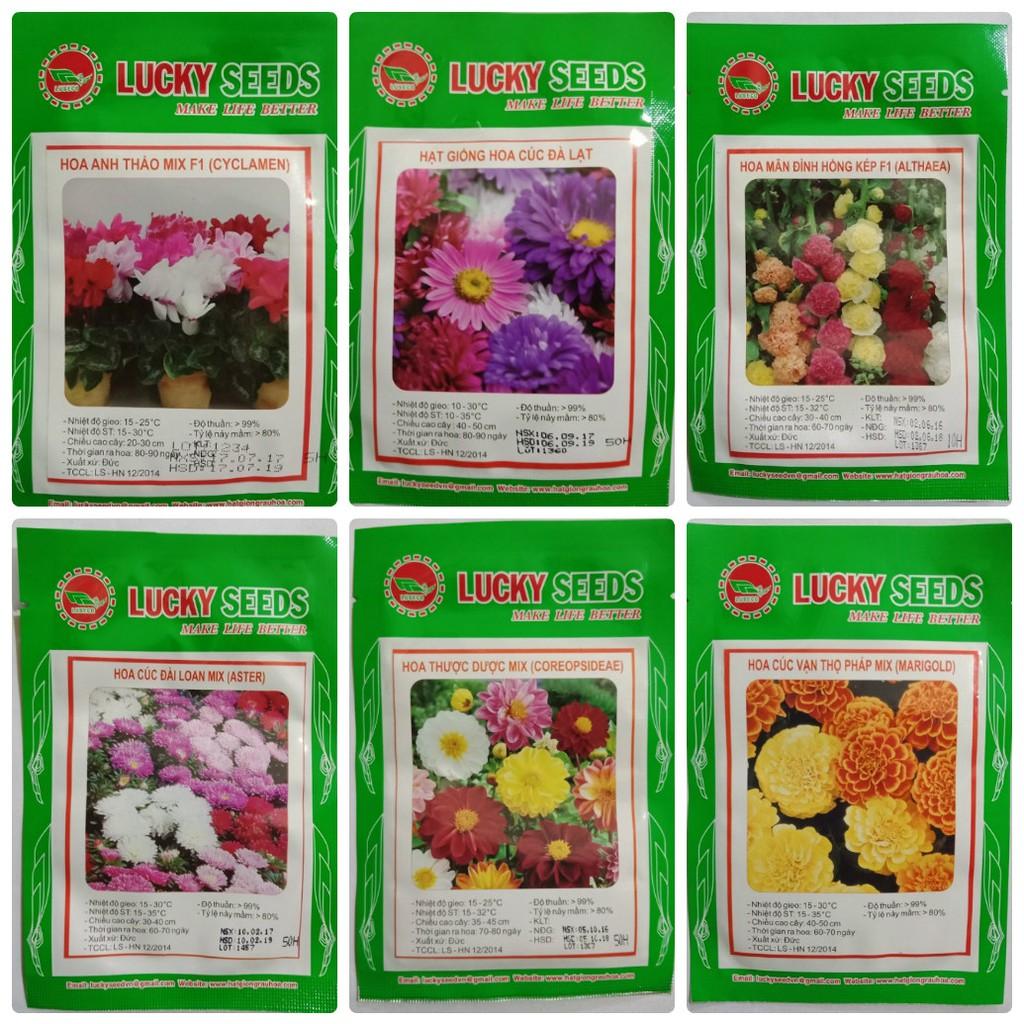 -55k Combo 13 loại hạt giống hoa xuân Lucky seeds+2 gói kíc