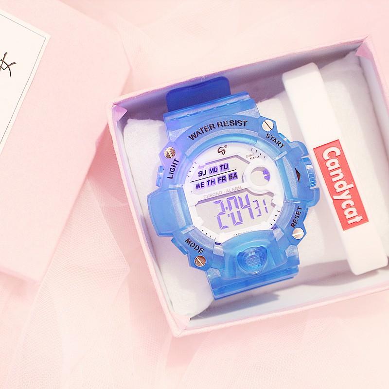 Đồng hồ điện tử thể thao thời trang trang nữ dây cao su Candycat PKHRGE081 (44 mm)