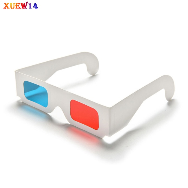 NG 10 Pcs Universal Paper 3D Glasses View Anaglyph Red/Blue 3D Glasses for Movie Video