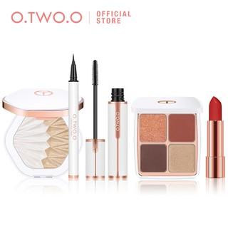 Bộ son môi + mascara + bút kẻ mắt + phấn mắt + phấn bắt sáng O.TWO.O dành cho trang điểm 310g thumbnail