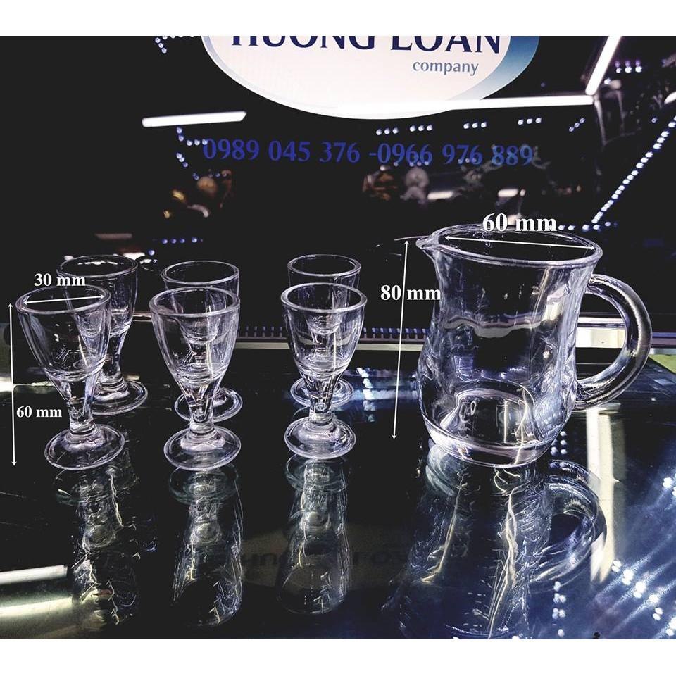Bộ ly rượu + rót rượu thủy tinh cao cấp