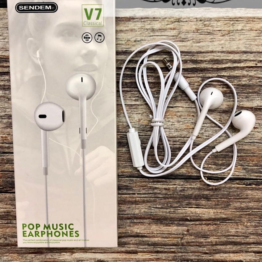 [Freeship] Tai nghe Sendem V7 chính hãng, giá siêu rẻ, chất lượng âm thanh tốt, có míc đàm thoại