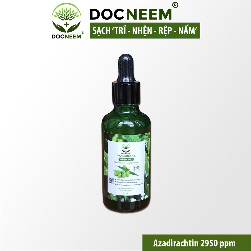 Dầu Neem nguyên chất ép lạnh trị côn trùng sâu bệnh hiệu quả và an toàn Thương hiệu Docneem 50ml