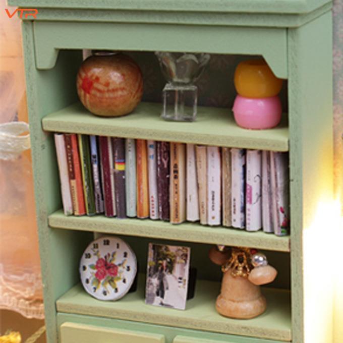 Creative Kits DIY Wood Dollhouse Sofa Miniature With LED+Furniture+cover Magic*