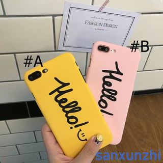 Iphone 6 6s 6Plus 7 7Plus 8 8Plus Couple Cartoon Smile Hard Case Phone Cover