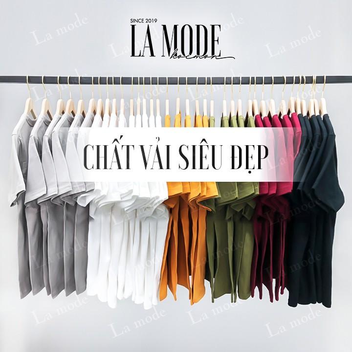 Áo Thun Trơn Nam Nữ Nhiều Màu Vải Dày Không Xù Lông - La mode